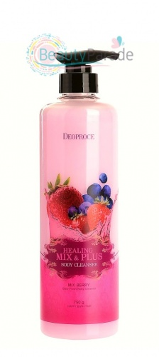 Гель для душа с ягодами Healing Mix & Plus Body Cleanser DEOPROCE