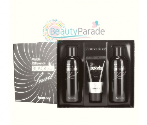 Набор по уходу за кожей Blacκ Snail Visible Difference Homme 3 Set FARM STAY